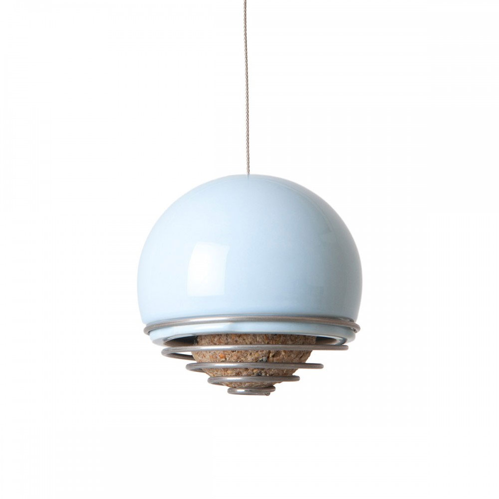 Green and Blue - Birdball Belle Feeder Blue