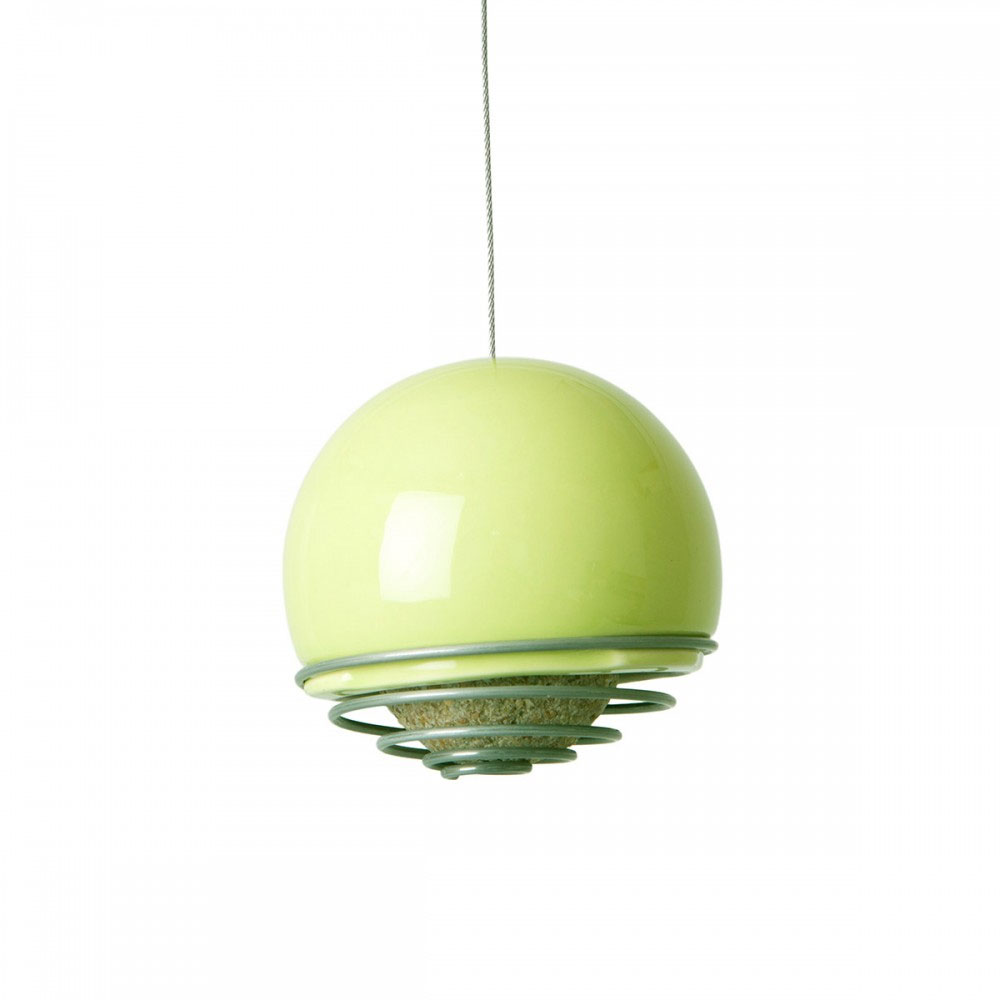 Green and Blue - Birdball Belle Feeder Lime