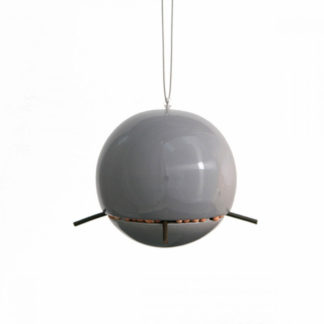 Green and Blue - Birdball Peanut Feeder Grey
