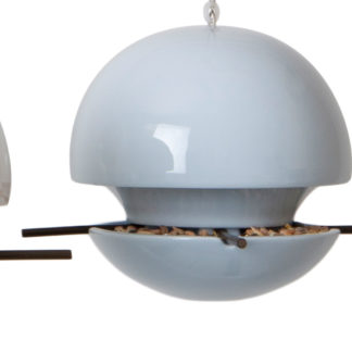 Green And Blue - Birdball Seed Feeder Grey