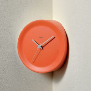 Alessi - Ora In Corner Mounted Clock - Orange