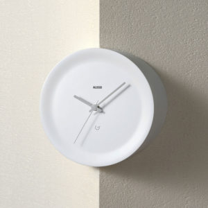 Alessi - Ora Out Edge Mounted Clock - White