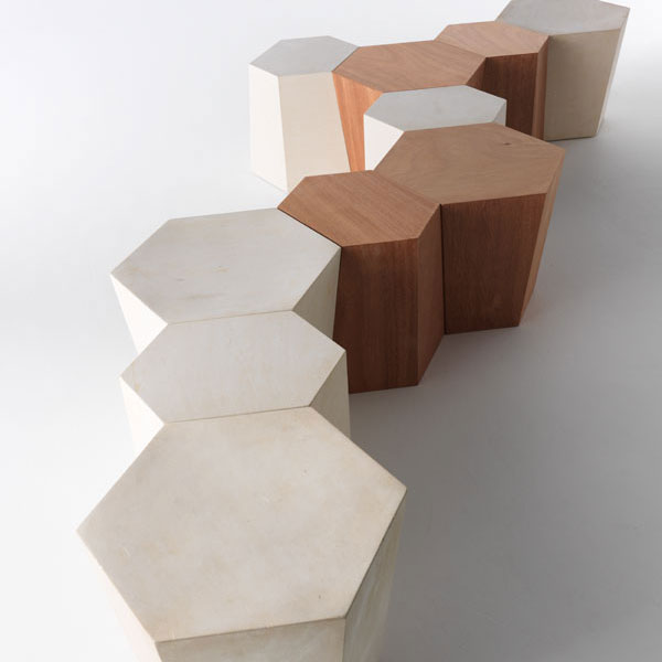 Horm   Steven Holl   Hexagon Side Table Or Stool