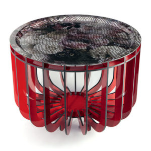 ibride - Medusa Coffee Table Red Outdoor