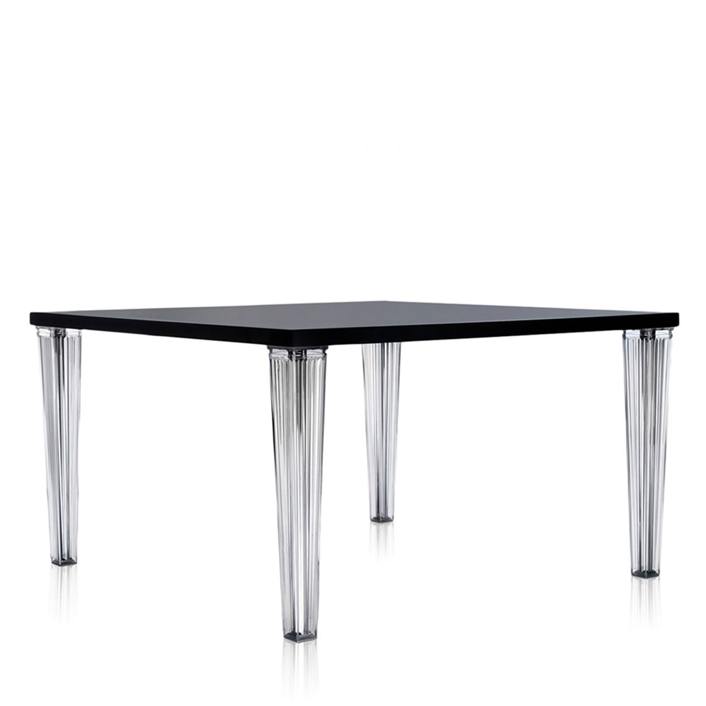 Kartell philippe starck top top square table glossy black panik design for Philippe starck tables