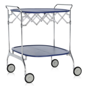 Kartell - Antonio Citterio - Gastone Folding Trolley Sea Blue