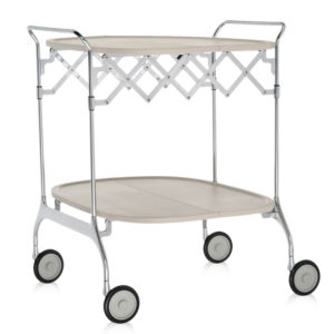 Kartell - Antonio Citterio - Gastone Folding Trolley Cream