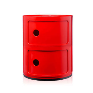 Kartell - Anna Ferrieri - Red Componibili 2 Elements