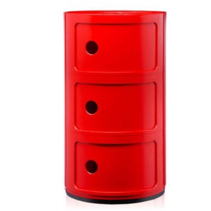 Kartell - Anna Ferrieri - Red Componibili 3 Elements