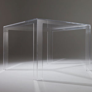 Kartell - Tokujin Yoshioka - Invisible Dining Table Teal