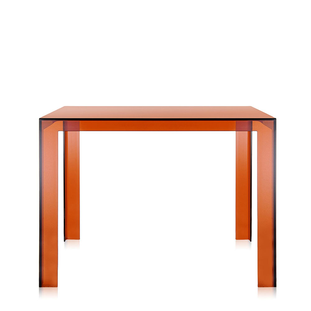 Kartell tokujin yoshioka invisible dining table amber for Table kartell