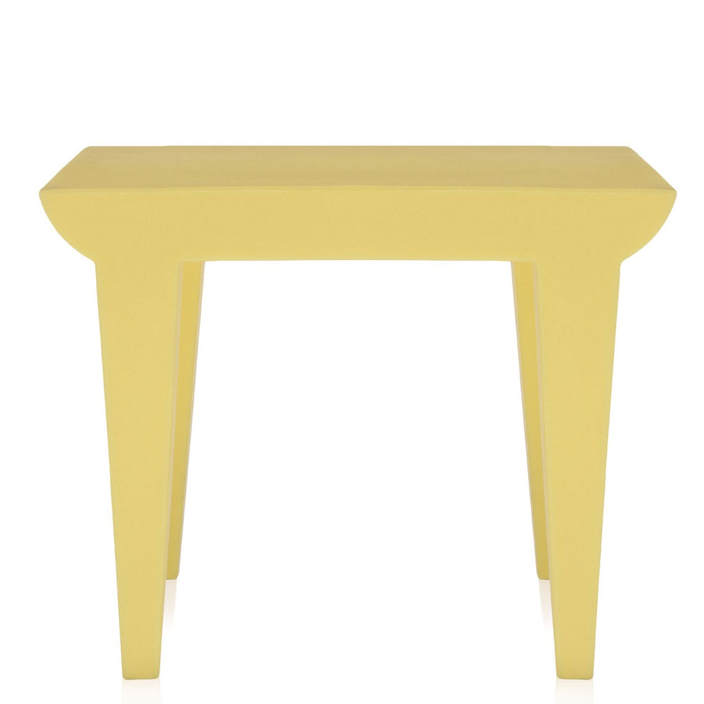 Kartell philippe starck bubble club table light yellow panik design for Philippe starck tables