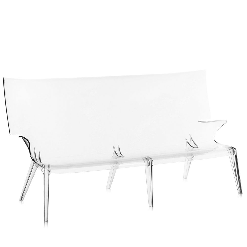 Kartell Uncle Jack Sofa Transparent Philippe Starck