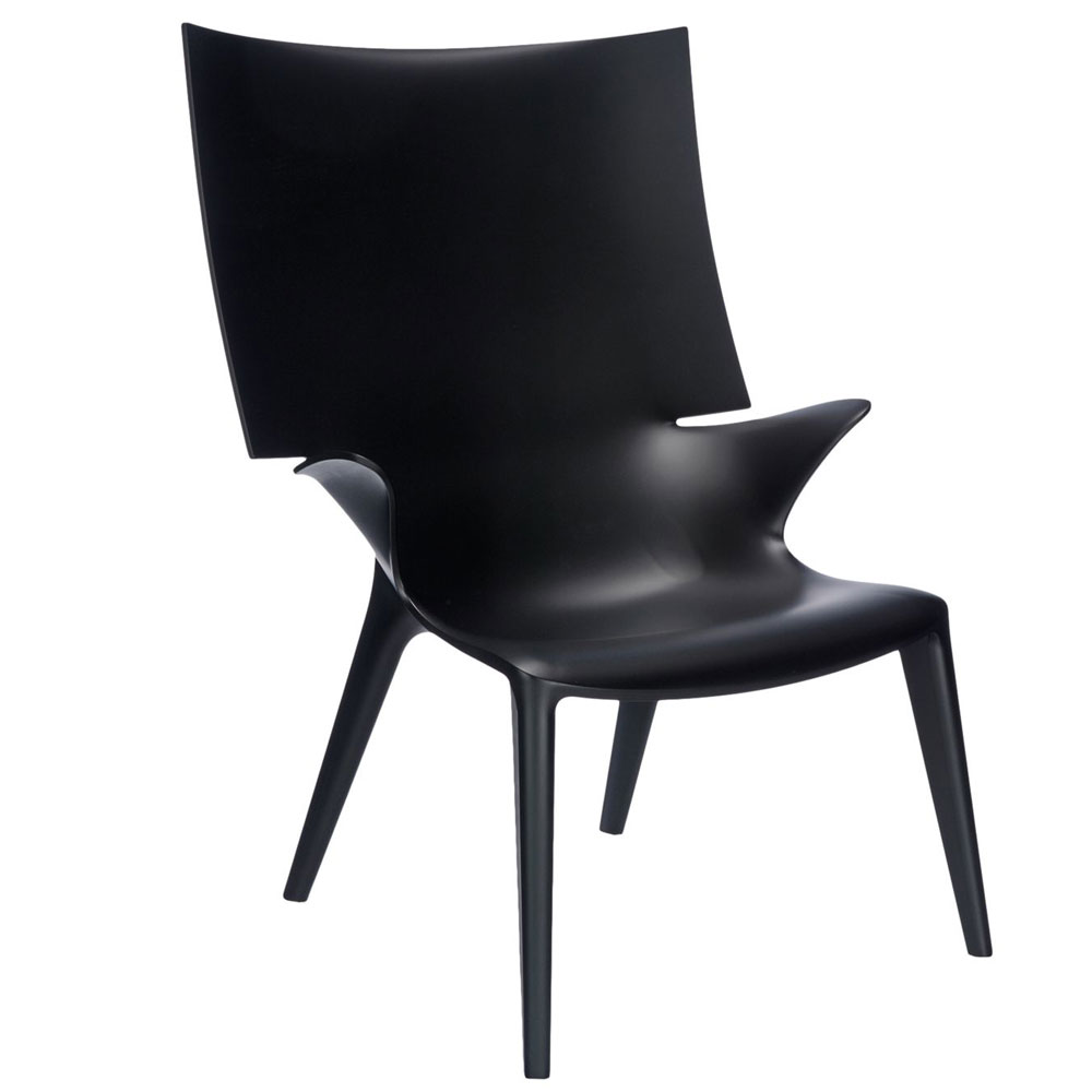 Kartell Uncle Jim Armchair Black Philippe Starck