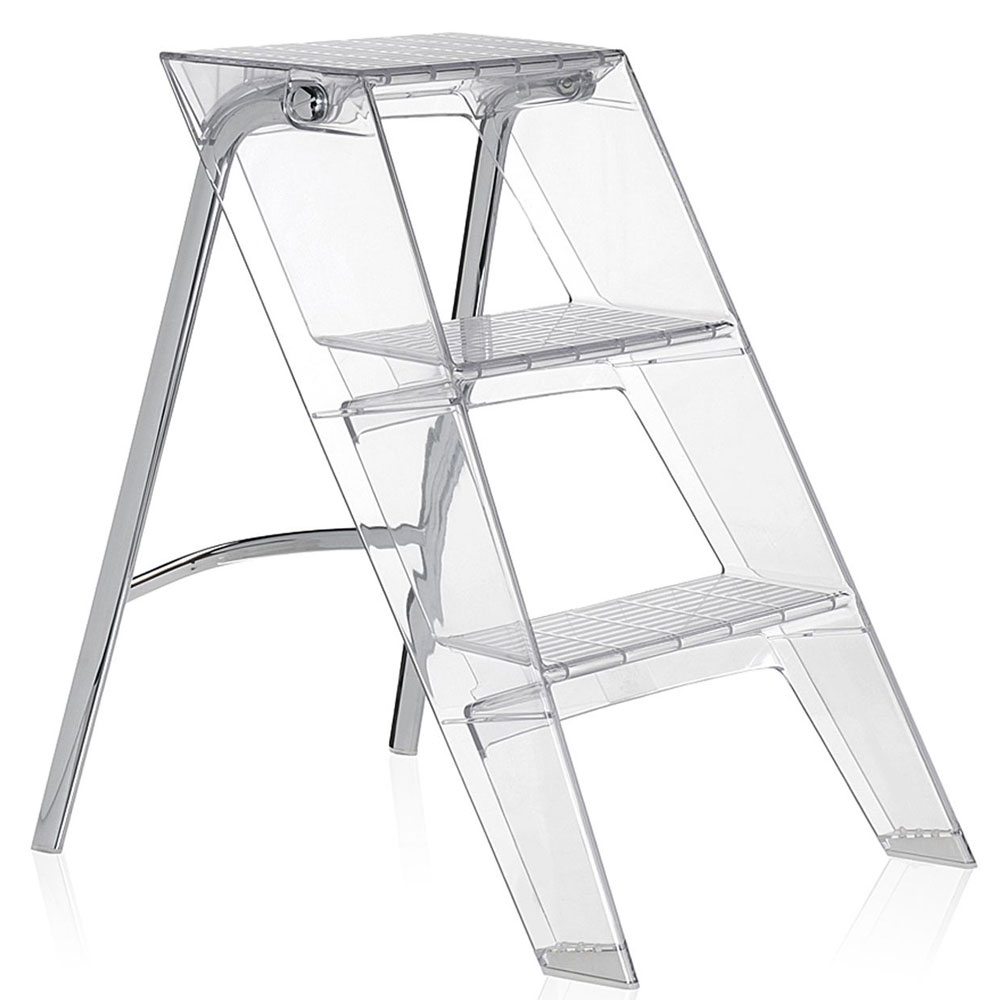 Kartell Upper Folding Step Ladder Crystal
