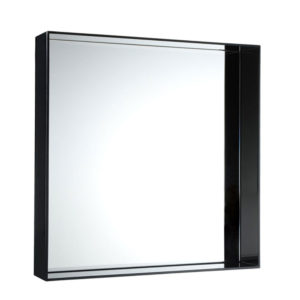 Kartell - Philippe Starck - Only Me Square Mirror Glossy Black