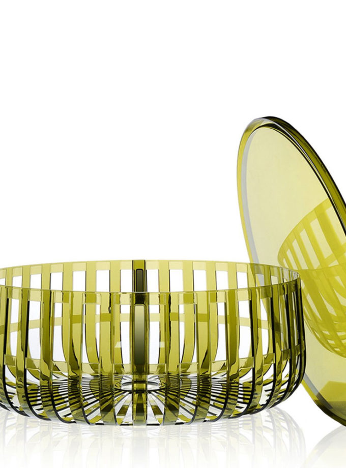 Kartell w Ronan Bouroullec Panier Container with Top Dark Green