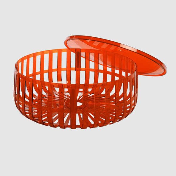Kartell w Ronan Bouroullec Panier Container with Top Orange