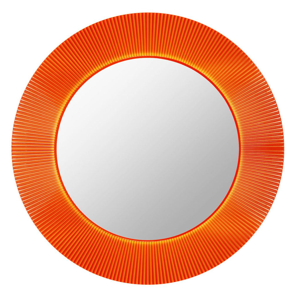 Kartell All Saints Mirror Tangerine LED Backlit