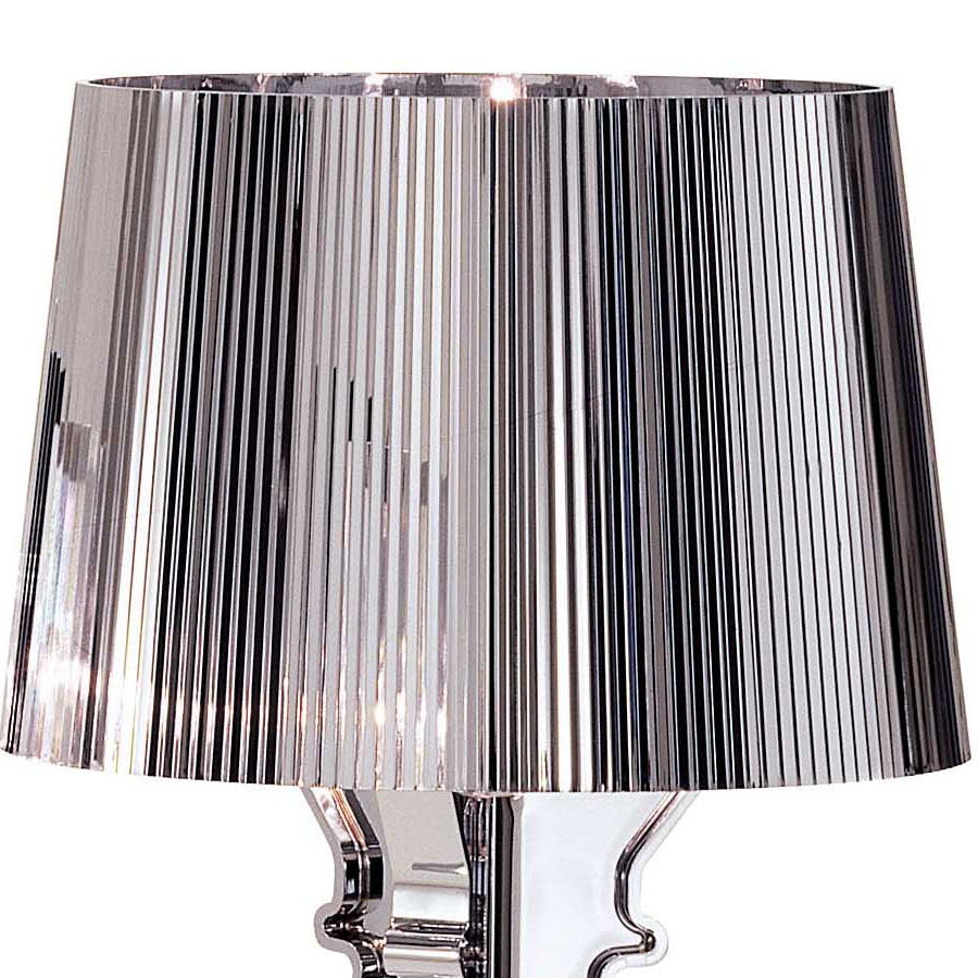 Kartell Laviani Bourgie Chrome Table Light Panik Design