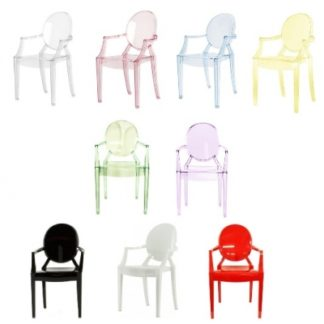 Kartell w Philippe Starck Lou Lou Ghost Kids Chair
