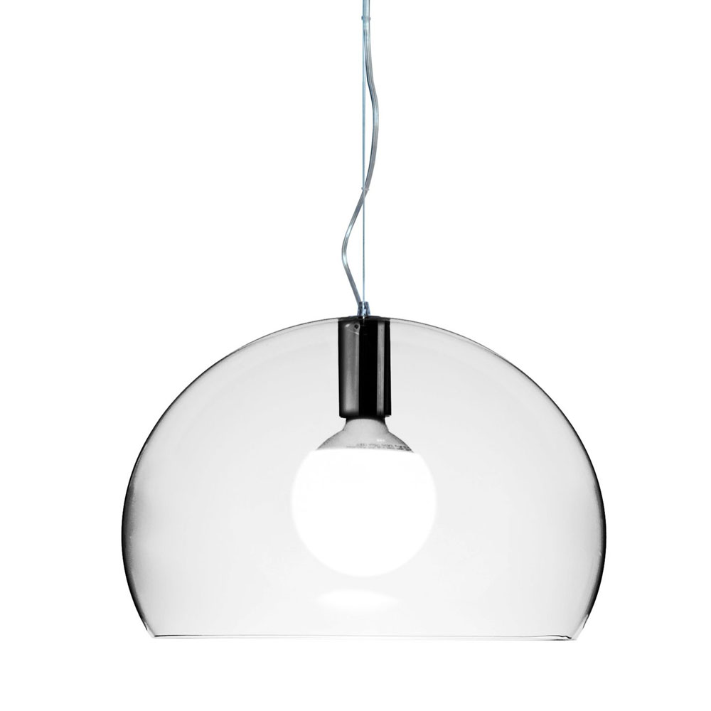 Kartell ferruccio laviani small fly suspension light for Suspension designer