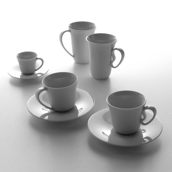 Alessi Ku Saucer For Coffee Cup Set Of 6