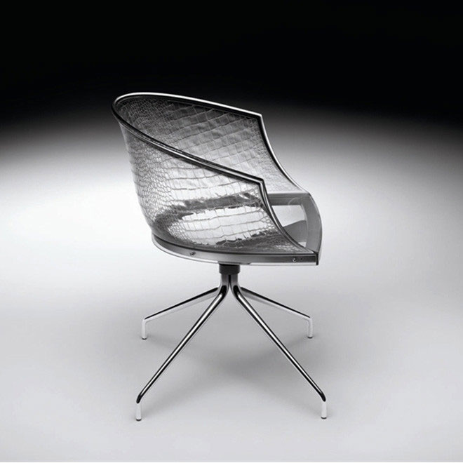 Livit by Fiam - Archirivolto - Dandy Giro Chair Transparent Crystal