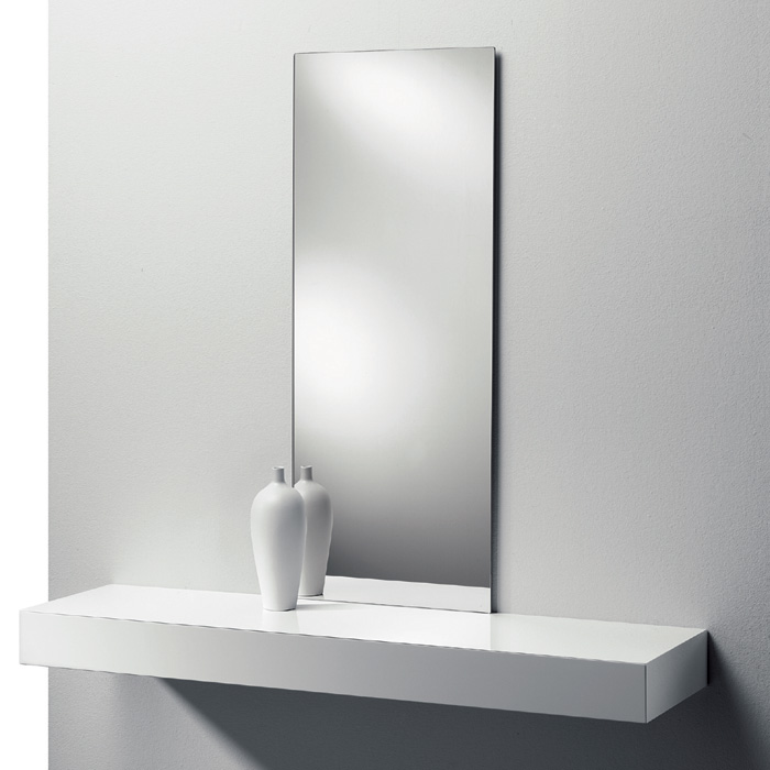 Liv It Slice Wall Mirror With Wooden Drawer