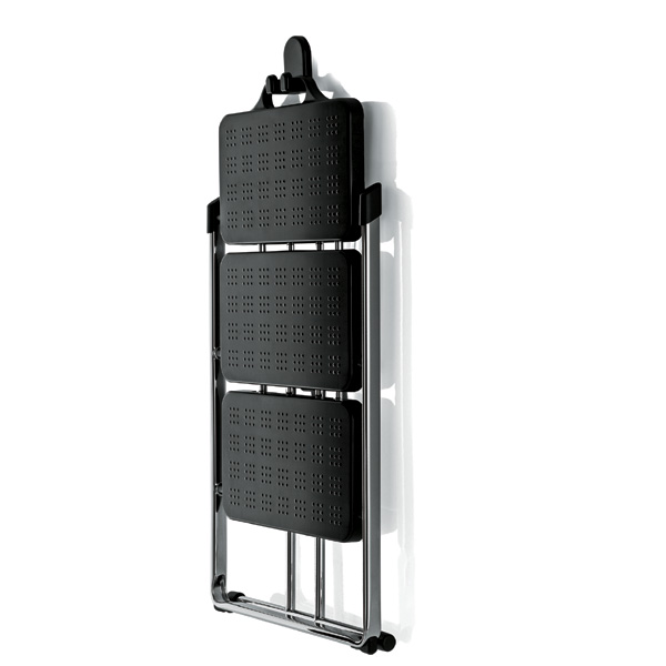 Magis - Nuovastep Step Ladder Black and Chrome (wall hook not included)