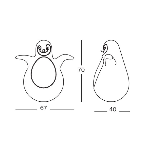 Magis - Eero Aarnio - Pingy The Wobbling Penguin Chick