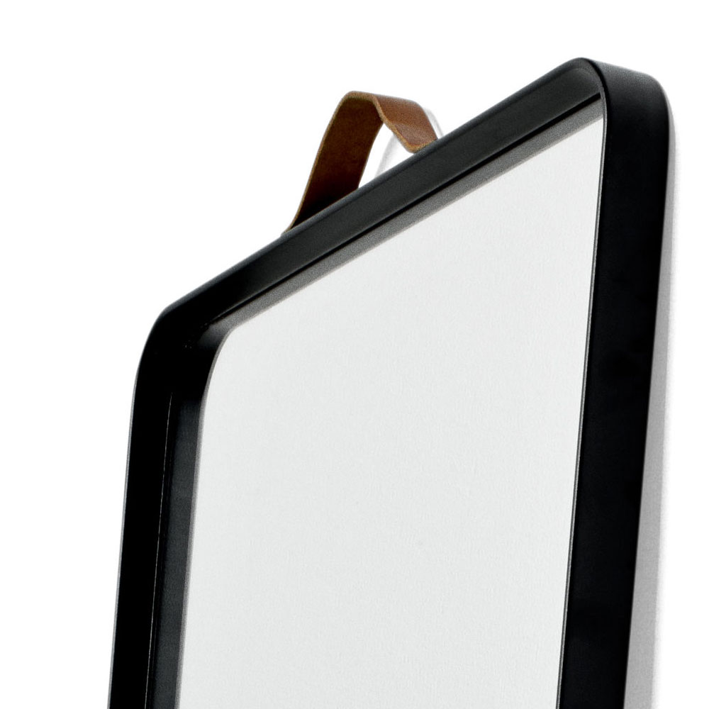 Menu - Norm Floor Mirror Black with Leather Strap | Panik Design