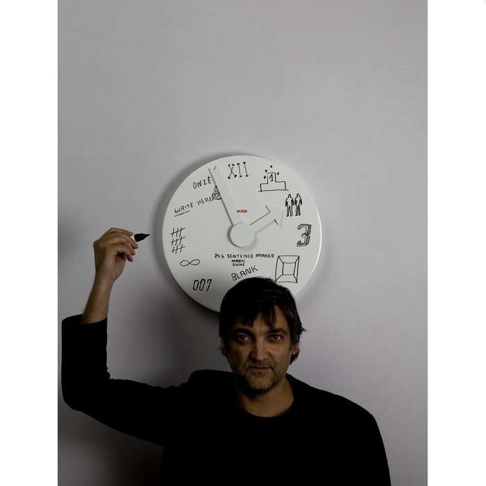 Alessi - Blank Wall Clock with Pen