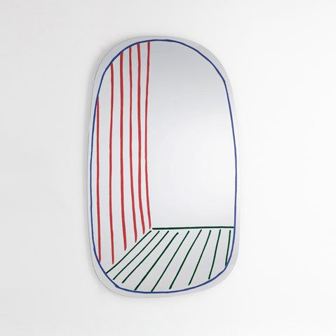 Bonaldo - New Perspective Mirror Large Red Green Blue