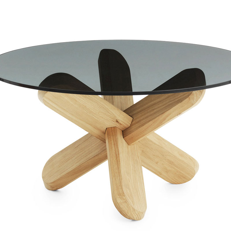 Normann Copenhagen   Ding Oak Coffee Table With Smoked Glass