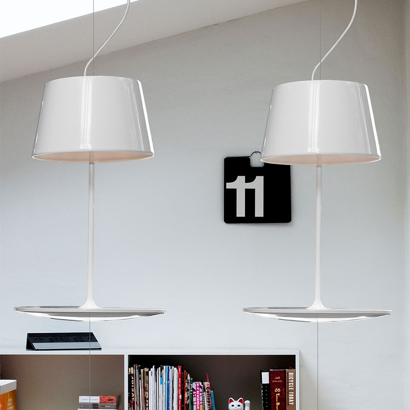 Ryddig Northern Lighting - Illusion Suspension Table Light Glossy White HR-95