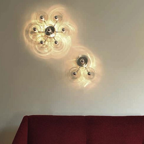 oluce fiore 173 wall celing light