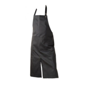The Organic Company - Long Apron with Pocket Black