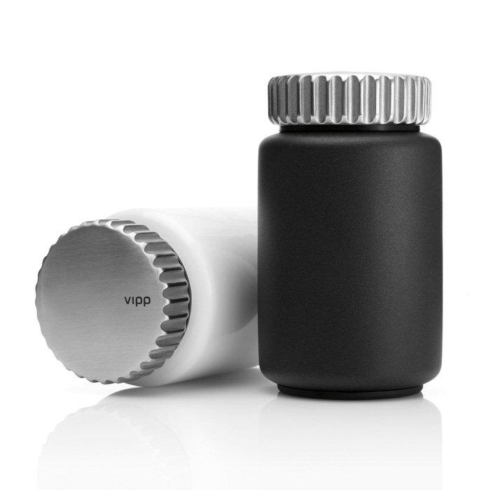 Vipp 263 Salt And Pepper Mill Set With Stand Panik Design