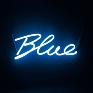 Seletti - Shades BLUE Neon Lamp