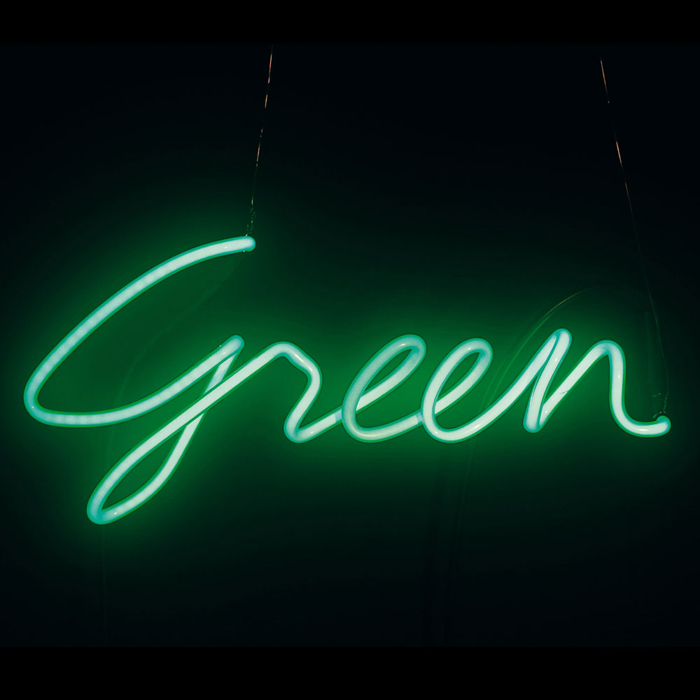 Seletti - Shades GREEN Neon Lamp