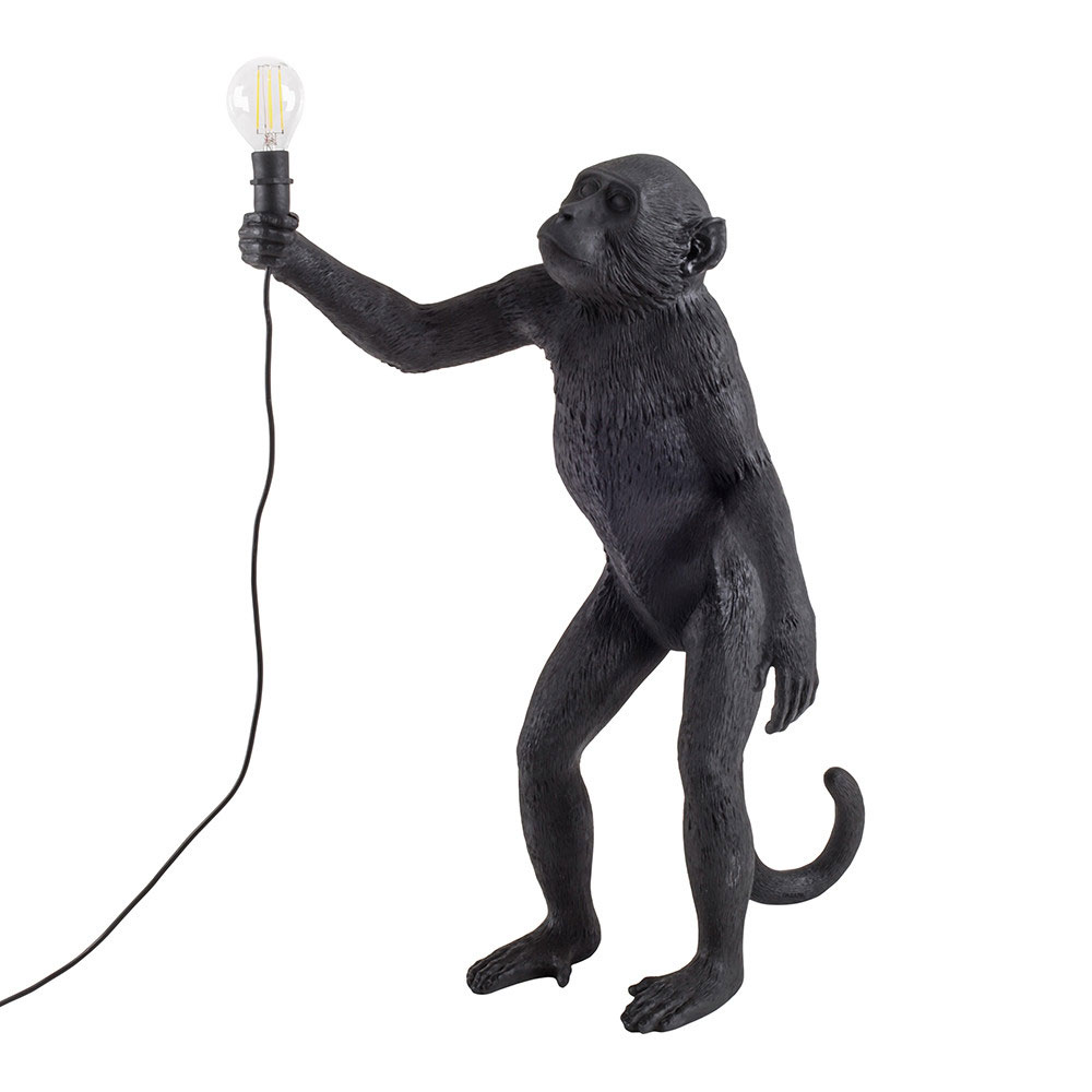 Seletti Standing Monkey Light Black Outdoor