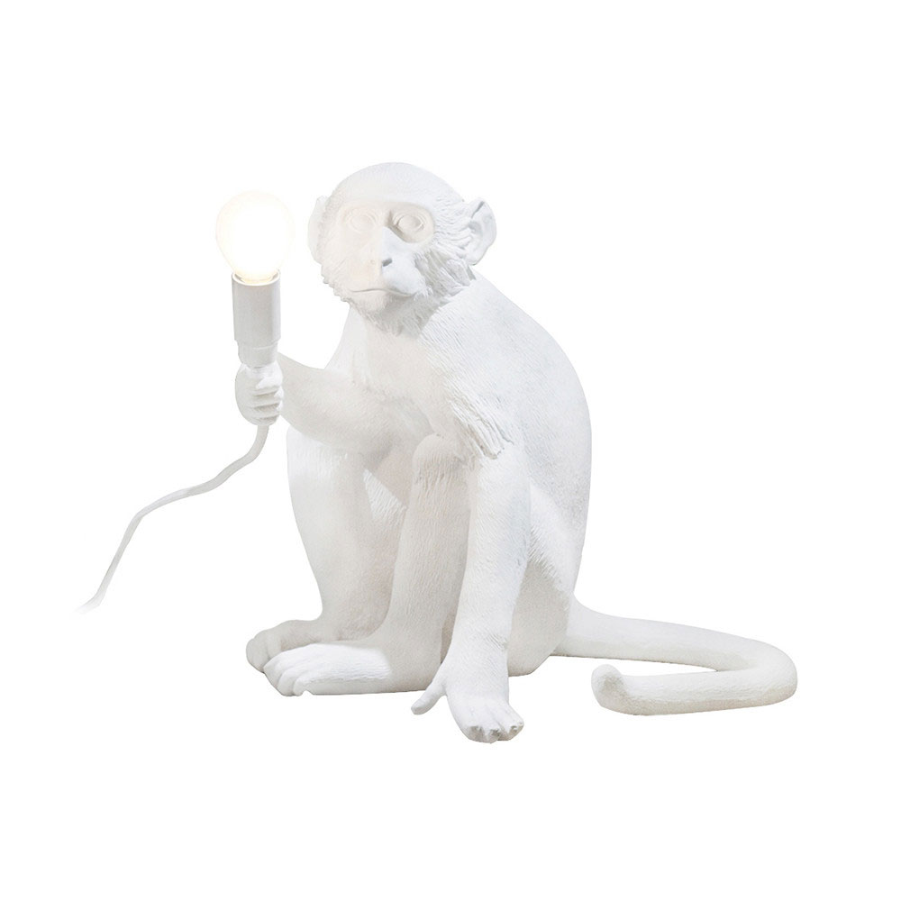 Seletti Sitting Monkey Light White