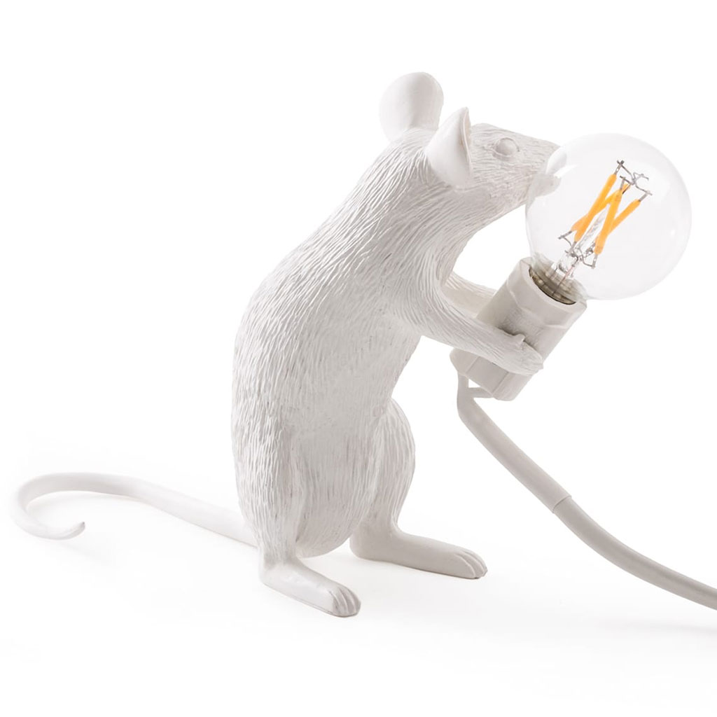 Seletti Mouse Sitting Table Light White