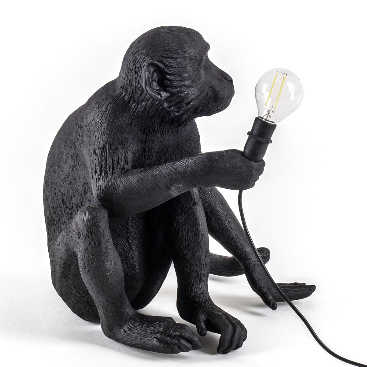 Seletti Sitting Monkey Light Black Outdoor