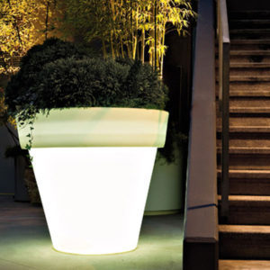 Serralunga - Vas-Two with Container and Light Outdoor