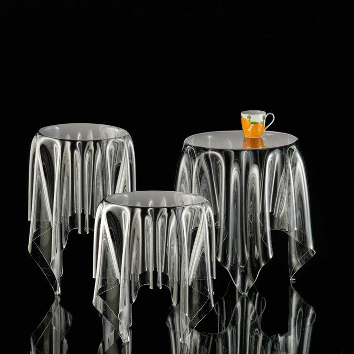 Essey Tall Illusion Table Clear Panik Design