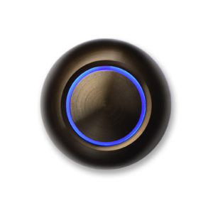 Spore Doorbell Button True Illuminated Bronze Blue