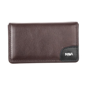 "Nava - ""Treck"" Leather Rigid Business Card Case"