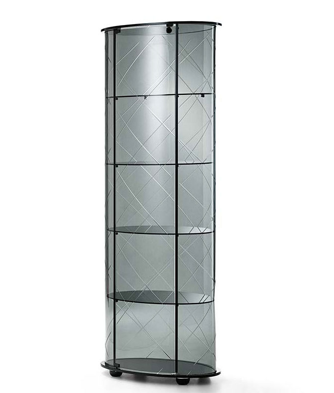 Veblen by Fiam - Burberry Engraved Curved Glass Showcase